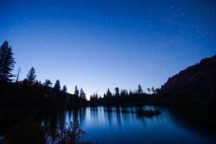 Night Sky Over Lake