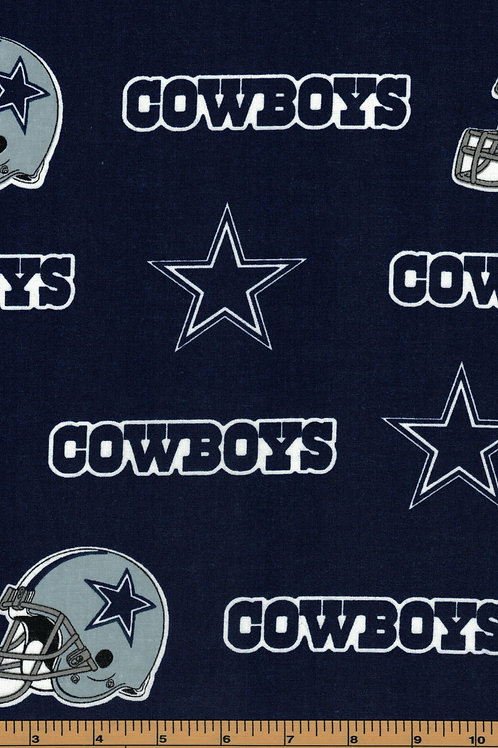 Dallas Cowboys - Toss -  NFL Football Fabric -100% Cotton Sold by the half yard