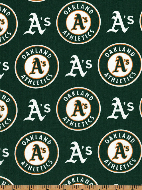 Oakland Athletics - MLB Baseball Fabric |100% Cotton|Sold by the half yard