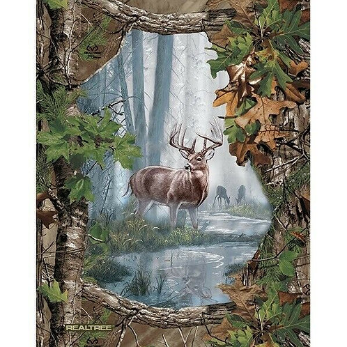 Deer Fabric Panel | Heritage Proud | RealTree | 100% Cotton