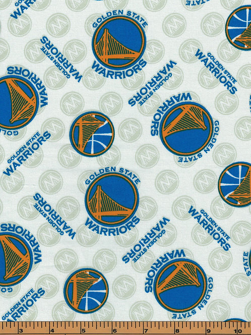 Golden State Warriors Basketball | NBA Fabric |100% Cotton|Sold by the half yard