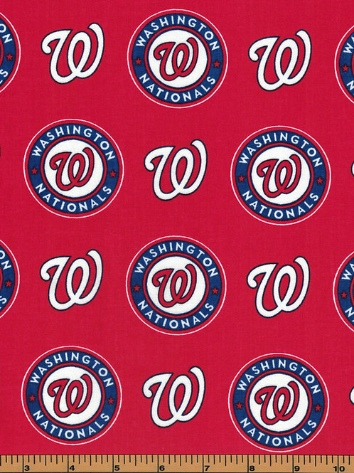 Washington Nationals - MLB Baseball Fabric |100% Cotton|Sold by the half Yard