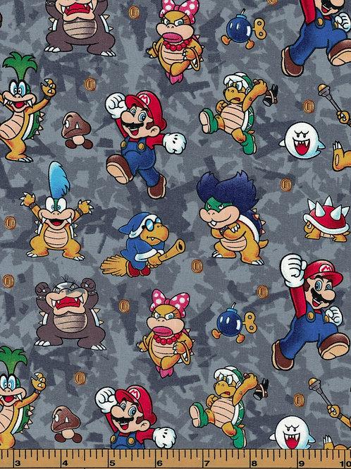 Super Mario Bros Nintendo Fabric