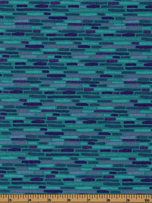 Turquoise and Purple Filler Fabric | 100% Cotton Fabric | by half yard
