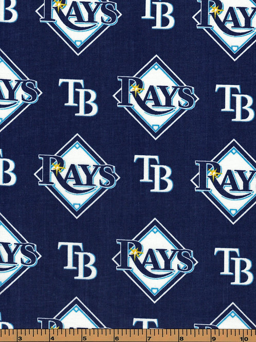 Tampa Bay Rays - MLB Baseball Fabric |100% Cotton|Sold by the half yard