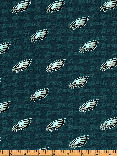 Philadelphia Eagles Name Toss | NFL Football Fabric|100% Cotton | by the1/