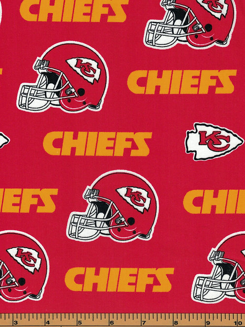 Kansas City Chiefs NFL Football Fabric|100% Cotton|Sold by the half yard
