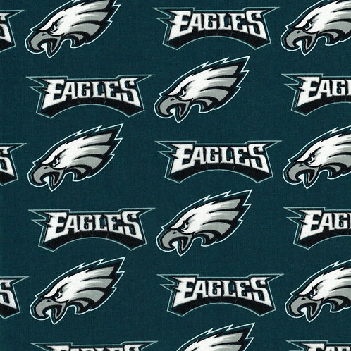 Philadelphia Eagles Toss | NFL Football Fabric|100% Cotton | by the 1/2 yard