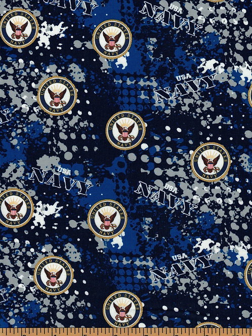 US Navy Camo Military Fabric - 100% Cotton Fabric - Sold by the half yard