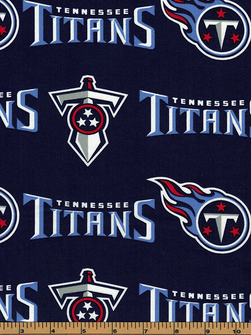 Tennessee Titans NFL Football Fabric|100% Cotton|Sold by the half yard