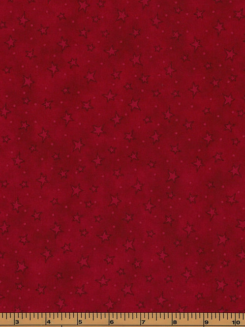 Red Stars Filler Fabric |Starry Basics|100% Cotton|Sold by the half yard