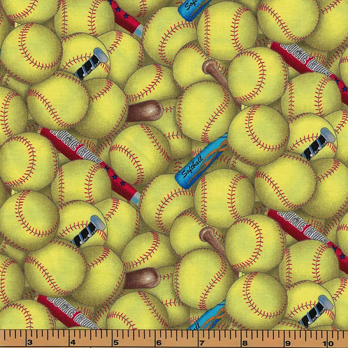 Softball Fabric - 100% Cotton- Sold by the Half Yard