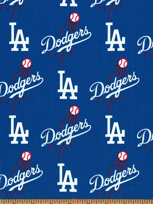 Los Angeles Dodgers Toss - MLB Fabric |100% Cotton|Sold by the half yard