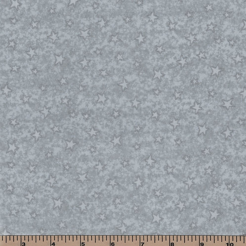 Gray Stars Filler Fabric - Starry Basics - 100% Cotton- Sold by the Half Yard