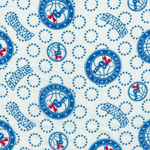 Philadelphia 76ers Basketball | NBA Fabric |100% Cotton|Sold by the hal