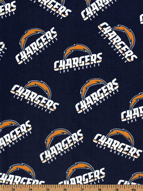 Los Angeles Chargers NFL Football Fabric|100% Cotton|Sold by the half yard