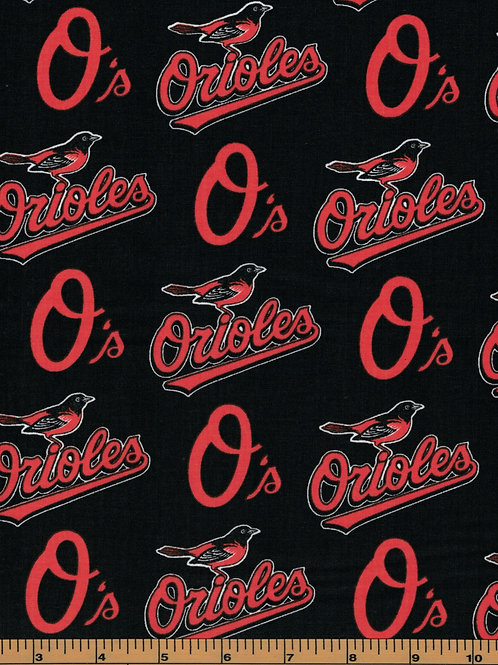 Baltimore Orioles - MLB Fabric |100% Cotton|Sold by the half yard