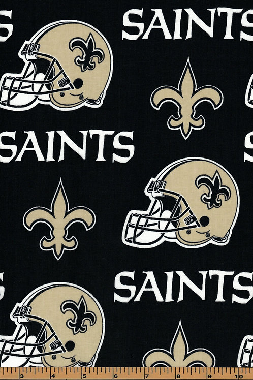 New Orleans Saints Toss - NFL Football Fabric|100% Cotton|Sold by the half yard
