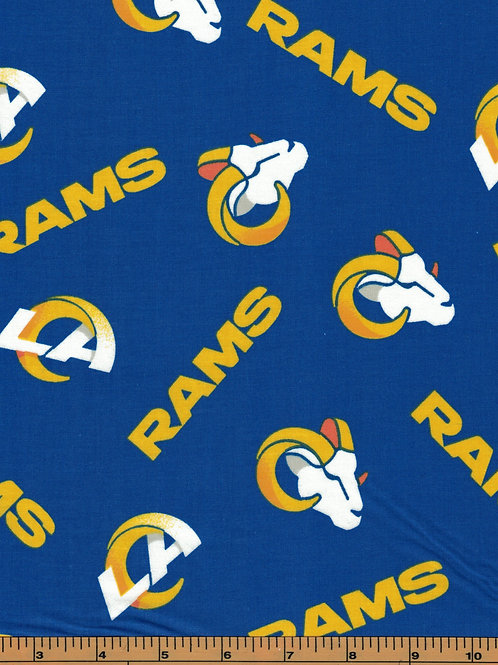 Los Angeles Rams NFL Football Fabric|100% Cotton|Sold by the half yard