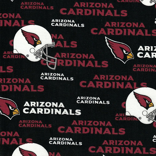 Arizona Cardinals Toss NFL Fabric 100% Cotton Sold by the half yard