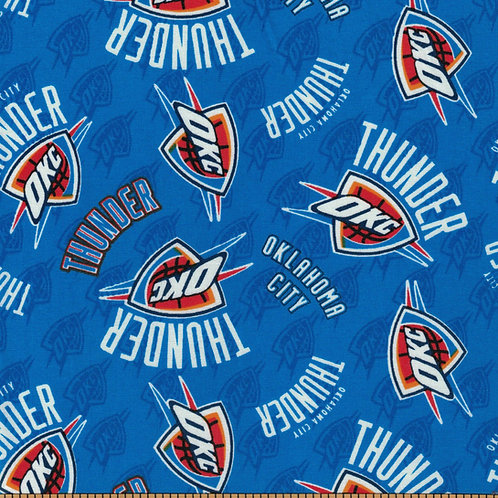 Oklahoma City Thunder Basketball | NBA Fabric |100% Cotton|Sold by the half yard