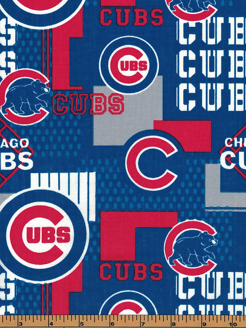 Chicago Cubs - Square - MLB Baseball Fabric |100% Cotton|Sold by the half yard