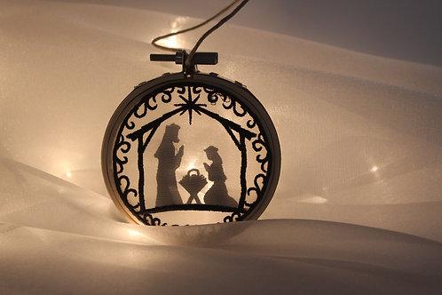 "3"" Nativity Scene Shadowbox Ornament"