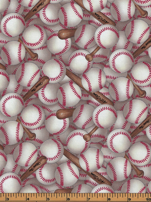 Baseball Fabric - 100% Cotton- Sold by the Half Yard