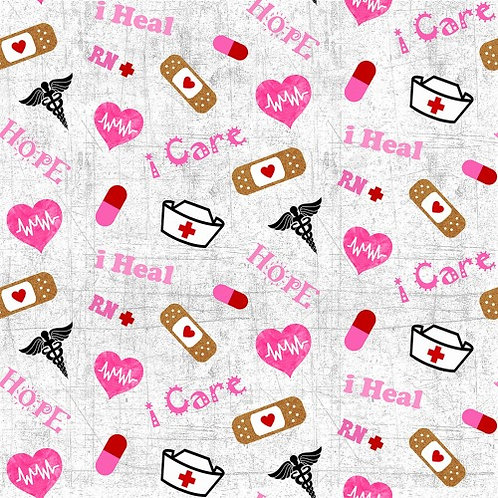 Nurse Fabric | 100% Cotton Fabric | Sold By the half yard