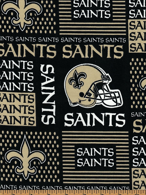 New Orleans Saints NFL Football Fabric|100% Cotton|Sold by the half yard
