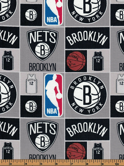 Brooklyn Nets Basketball | NBA Fabric |100% Cotton|Sold by the hal