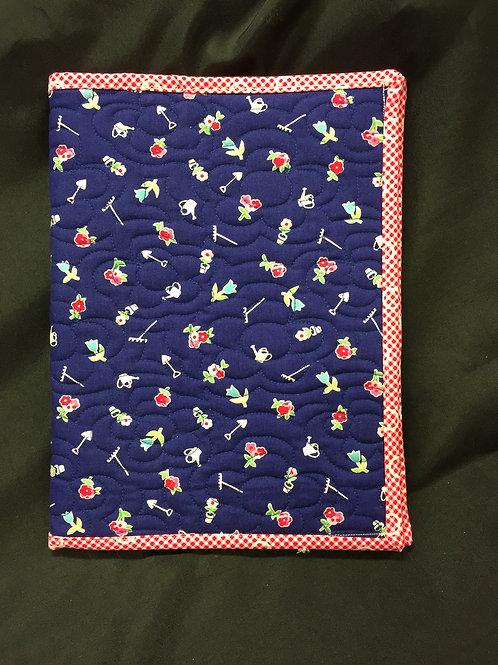 Flower Garden Themed Reusable Book Cover