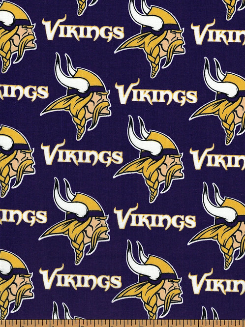 Minnesota Vikings | NFL Football Fabric|100% Cotton | by the 1/2 yard
