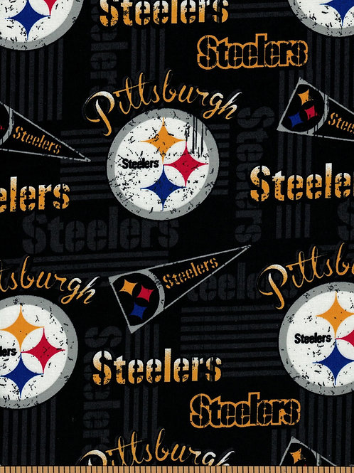 Pittsburgh Steelers Pennants NFL Fabric 100% Cotton Sold by the half yard