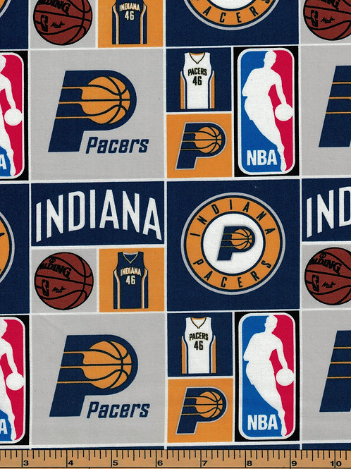 Indiana Pacers Basketball | NBA Fabric |100% Cotton|Sold by the half yard