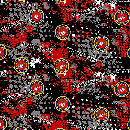 US Marines Camo Military Fabric - 100% Cotton Fabric - Sold by the half yard