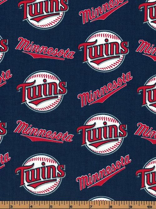 Minnesota Twins - MLB Baseball Fabric |100% Cotton|Sold by the half Yard