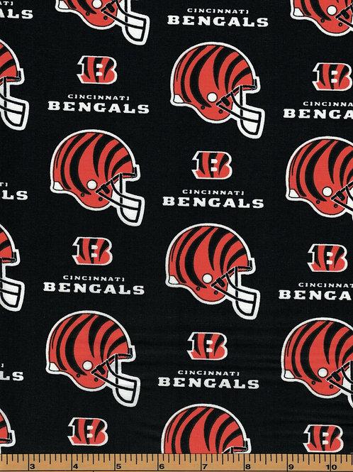 Cincinnati Bengals NFL Football Fabric|100% Cotton|Sold by the half yard