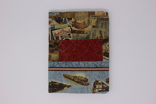 Train Patchwork Reusable Book Cover