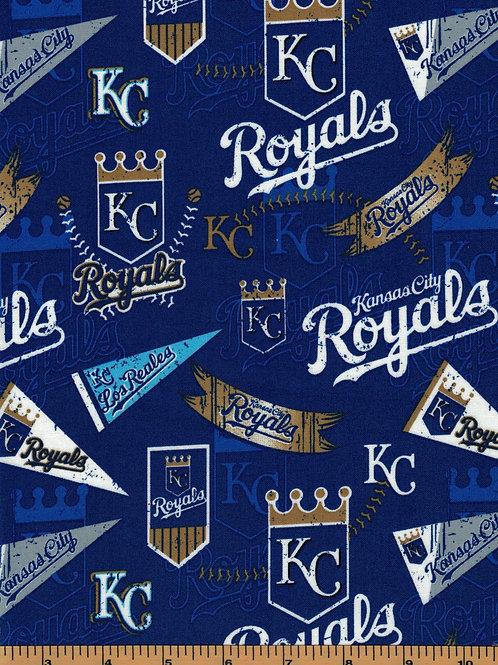 Kansas City Royals - MLB Baseball Fabric  100% Cotton Sold by the half Yard