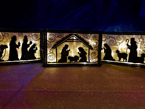 Nativity Set - Indoor Tabletop Nativity Set - Christmas Nativity Set