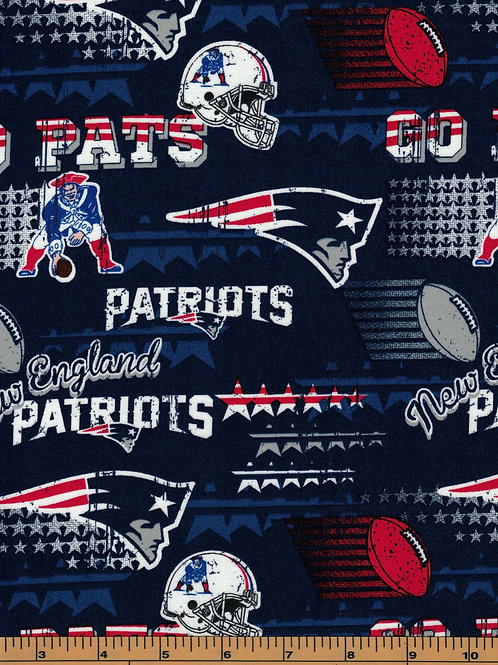 New England Patriots Go Pats NFL Fabric|100% Cotton|Sold by the half yard
