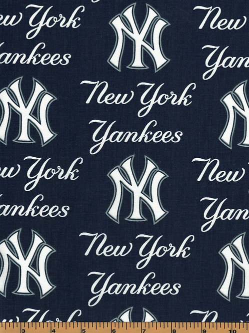 New York Yankees Toss - MLB Fabric |100% Cotton|Sold by the half yard