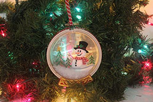"4"" Christmas Snowman Snowglobe Ornament"