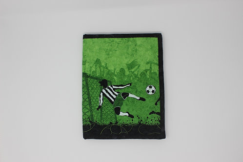 Soccer Themed Reusable Book Cover