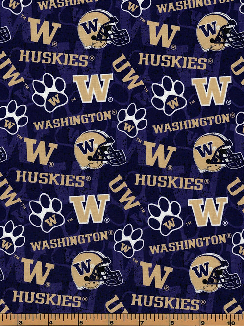 University of Washington Logo Toss |100% Cotton|Sold by the half yard