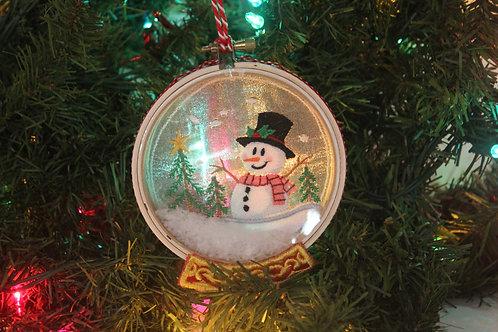 "3"" Christmas Snowman Snowglobe Ornament"