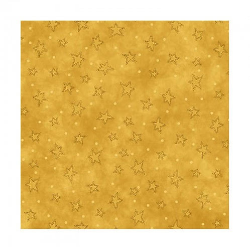 Yellow Stars Filler Fabric - Starry Basics - 100% Cotton- Sold by the Half Yard