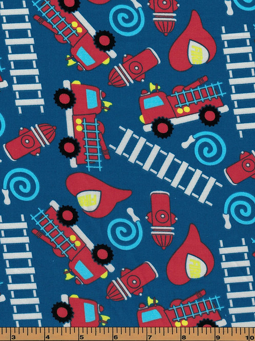 Firefighter Fabric- 100% Cotton- Sold by the Half Yard