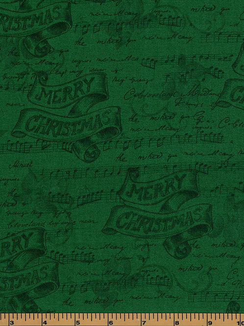 Christmas Music Fabric - 100% Cotton- Sold by the Half Yard
